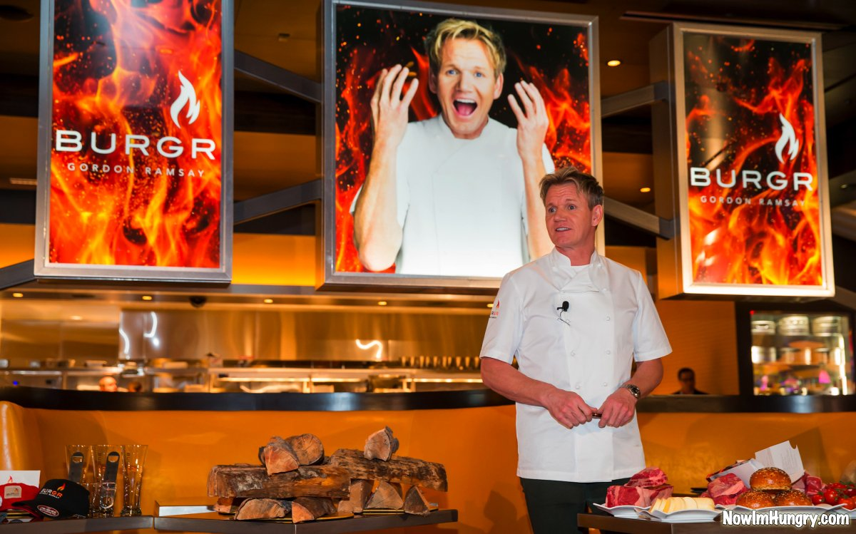 LAS VEGAS, NV - January 27 :  Chef Gordon Ramsay grand opening events for BurGR at Planet Hollywood Resort at Gordon Ramsay Pub & Grill at Caesars Palace in Las Vegas, Nevada on January 27, 2013. © RD/ Kabik/ Retna Digital ***HOUSE COVERAGE***