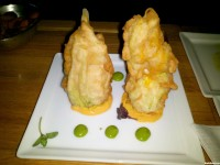 Cut Beverly Hills tempura squash blossoms