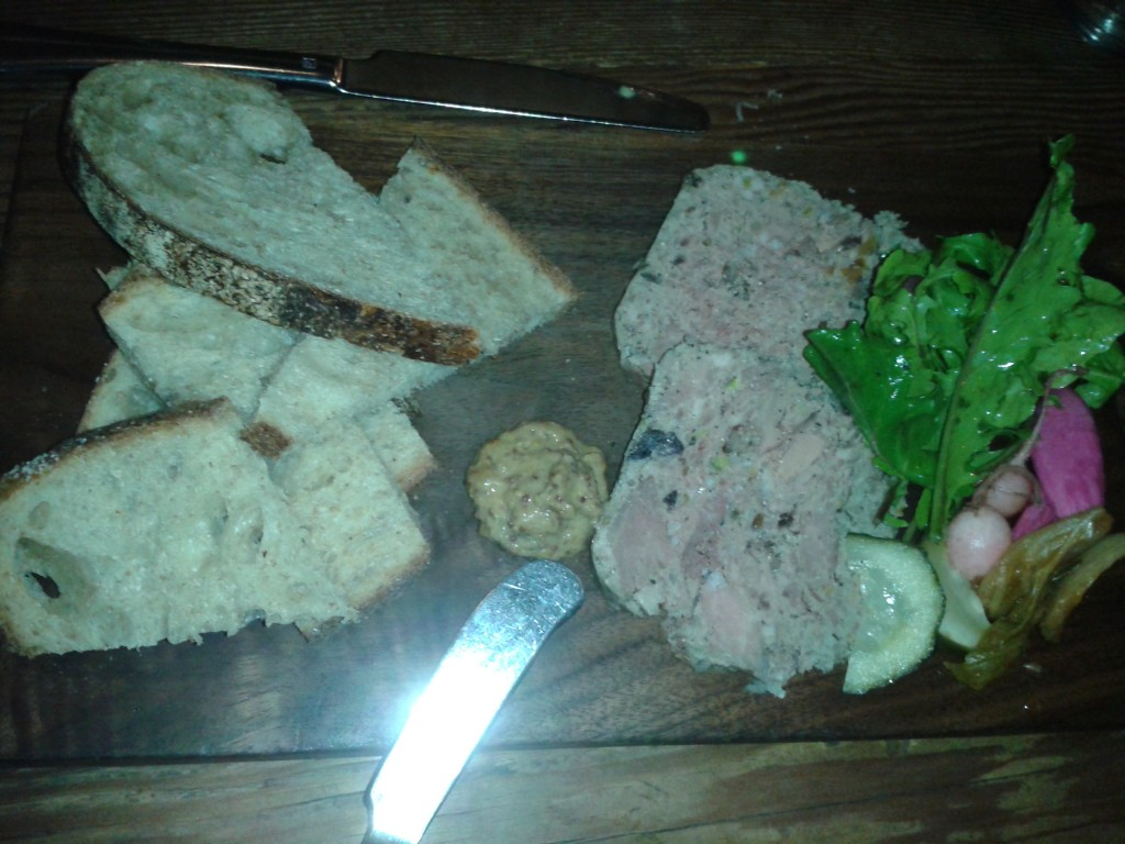 Duck breast and liver terrine