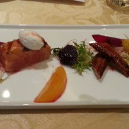 Paiza Club Salmon Eel Beet Salad